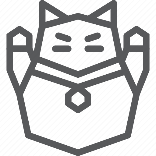 cat, charm, doll, fortune, luck, neko, object, wave icon