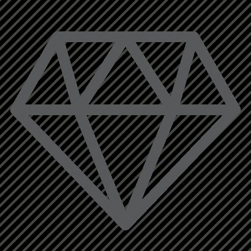 diamond, gem, gemstone, jewel, object, precious icon
