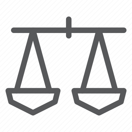 balance, equal, libra, measure, object, scale, weight icon