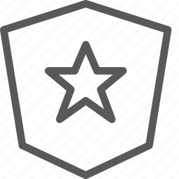 battle, defence, medieval, object, safe, shield, star icon