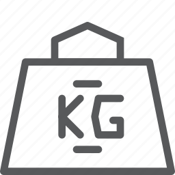 kg, kilograms, measure, object, scale, weight icon
