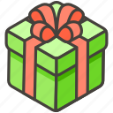 1f381, a, gift, wrapped icon