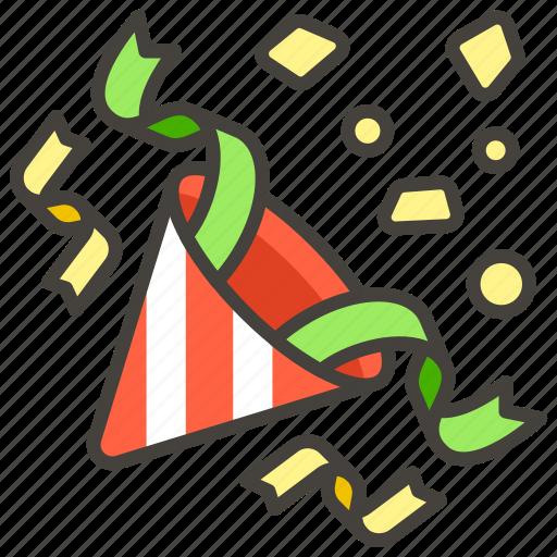 1f389, party, popper icon