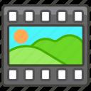 1f39e, film, frames