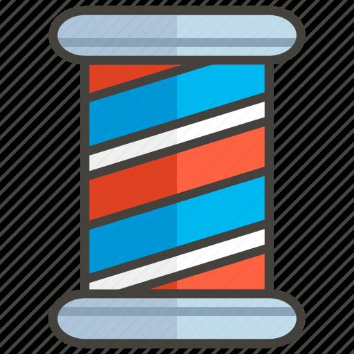 1f488, barber, pole icon