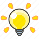 1f4a1, bulb, light icon