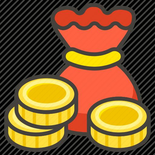 1f4b0, bag, money icon