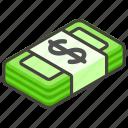 1f4b5, a, banknote, dollar icon