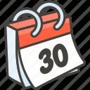 1f4c6, calendar, off, tear icon