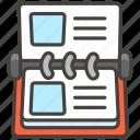 1f4c7, card, index icon