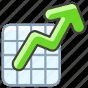 1f4c8, chart, increasing icon