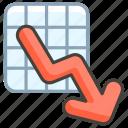 1f4c9, chart, decreasing icon