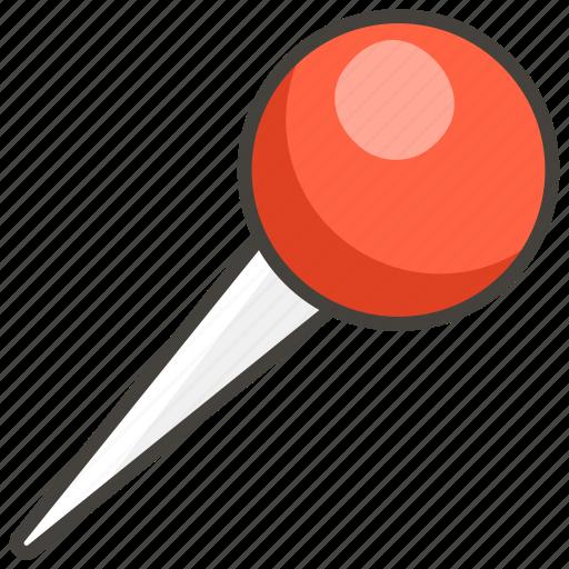 1f4cd, pushpin, round icon
