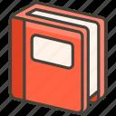 1f4d5, book, closed icon