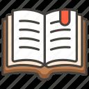 1f4d6, book, open icon