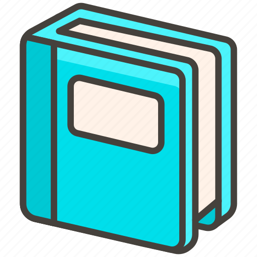 1f4d8, blue, book icon