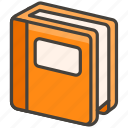 1f4d9, book, orange icon