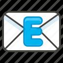 1f4e7, b, e, mail icon