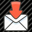 1f4e9, arrow, envelope, with icon