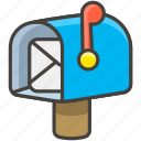1f4ec, flag, mailbox, open, raised, with icon