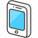 1f4f1, a, mobile, phone icon
