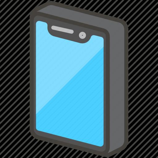 1f4f1, b, mobile, phone icon