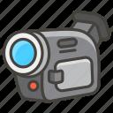 1f4f9, camera, video icon