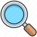 1f50d, glass, left, magnifying, tilted icon