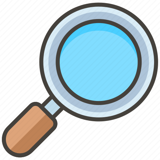 1f50e, glass, magnifying, right, tilted icon