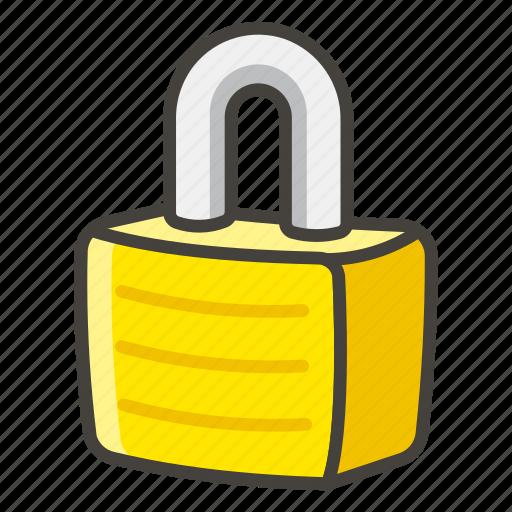 1f512, locked icon