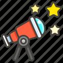 1f52d, b, telescope icon