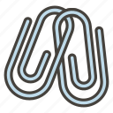 1f587, linked, paperclips icon