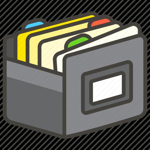 1f5c3, box, card, file icon