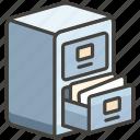 1f5c4, cabinet, file icon