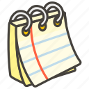1f5d2, notepad, spiral icon