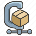 1f5dc, c, clamp icon