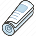 1f5de, newspaper, rolled, up icon