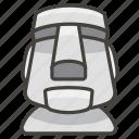 1f5ff, b, moai icon