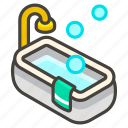 1f6c1, a, bathtub icon