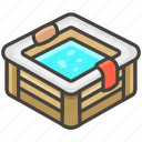 1f6c1, b, bathtub icon