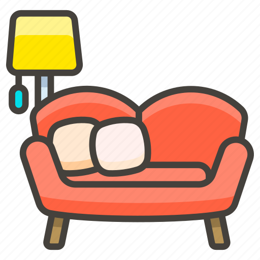 1f6cb, and, b, couch, lamp icon
