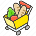 1f6d2, cart, shopping icon