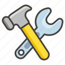 1f6e0, hammer, and, wrench icon