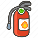 1f9ef, extinguisher, fire icon