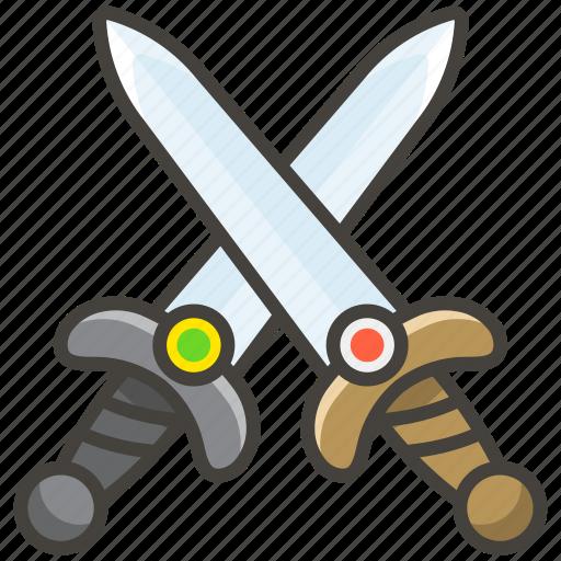 crossed, swords icon