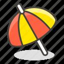 26f1, ground, on, umbrella icon