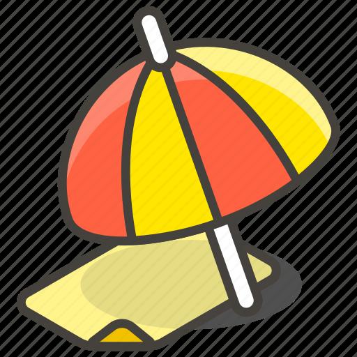 26f1, b, ground, on, umbrella icon
