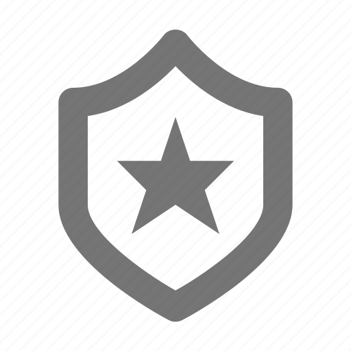 security, shield, star icon