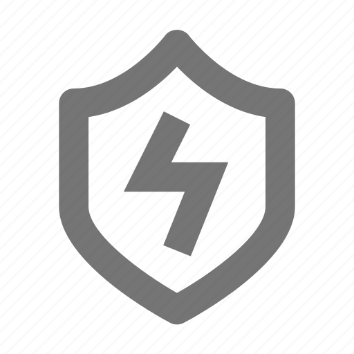 flash, lightning bolt, security, shield icon