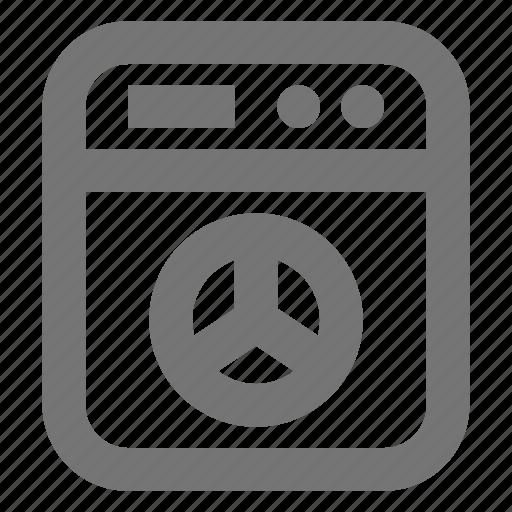 washer, washing machine icon